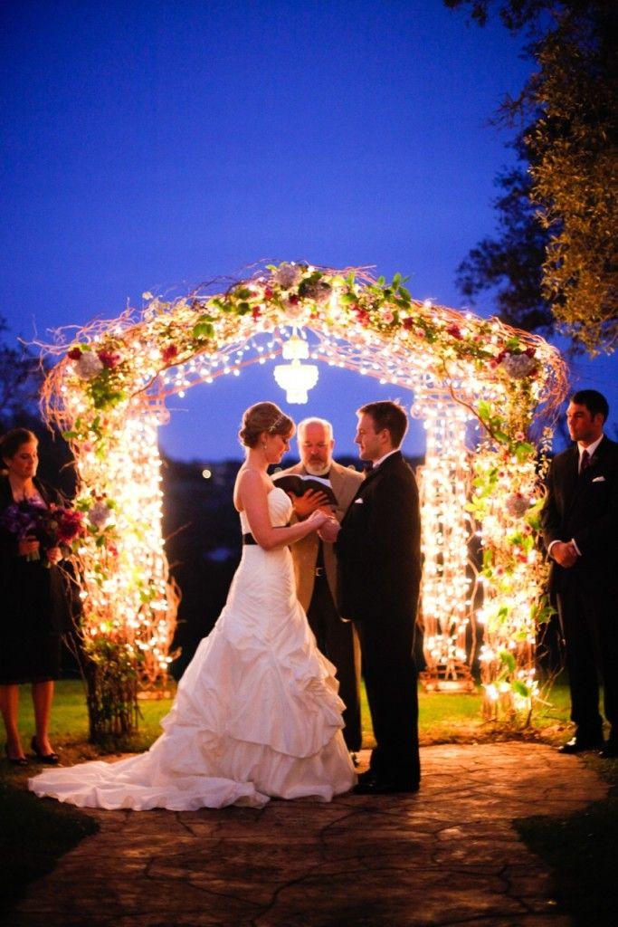 Wedding Decor Night Under Trees