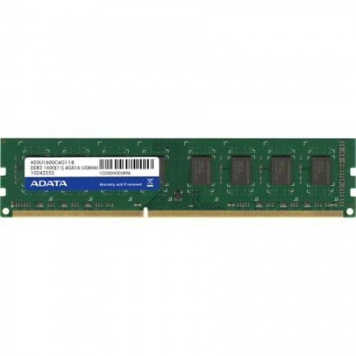 Memorie desktop A-Data AD3U1600W4G11-R, 4GB, DDR3, 1600MHz, CL11