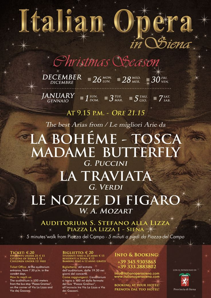 Classical music with Italian Opera - Visit our website to discover our winter special offer 2016/2017