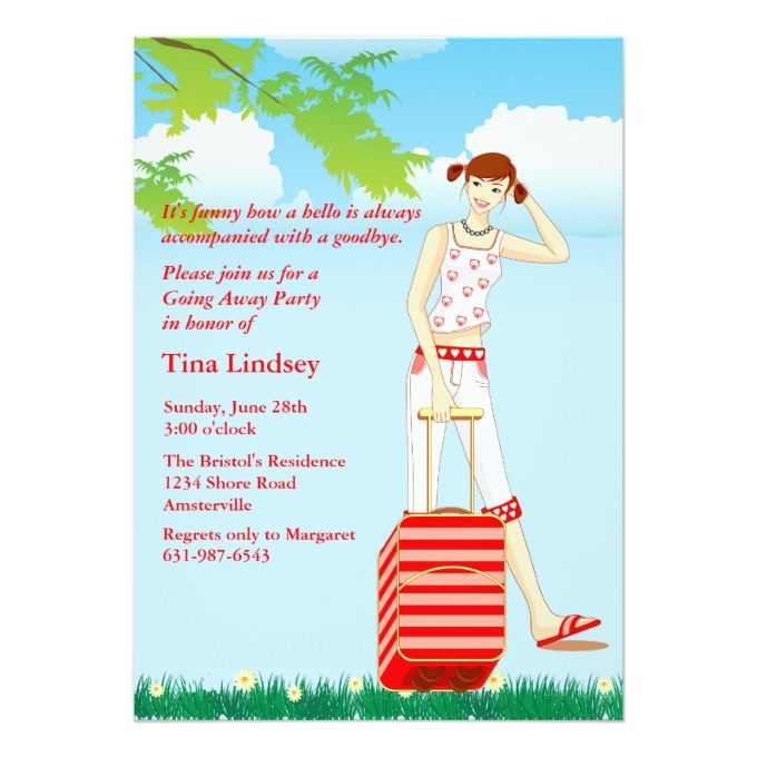 1260 best images about farewell party invitations on pinterest