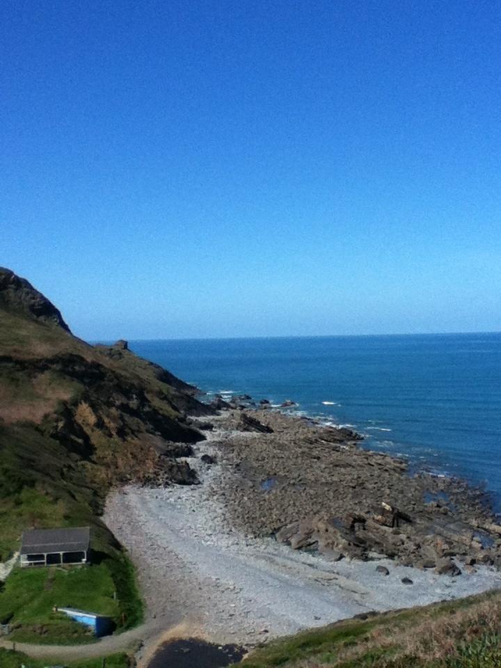 Coast path running North Cornwall nr Bude