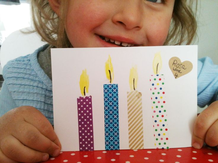 carte anniversaire + masking tape - Easy