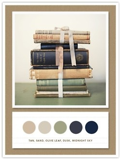 everything about this.: Vintage Books, Color Schemes, Colors, Living Room, Color Palette, Colour Palette, Old Books