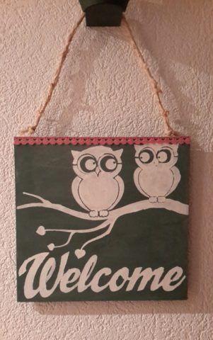 Welcome Schild gemalt