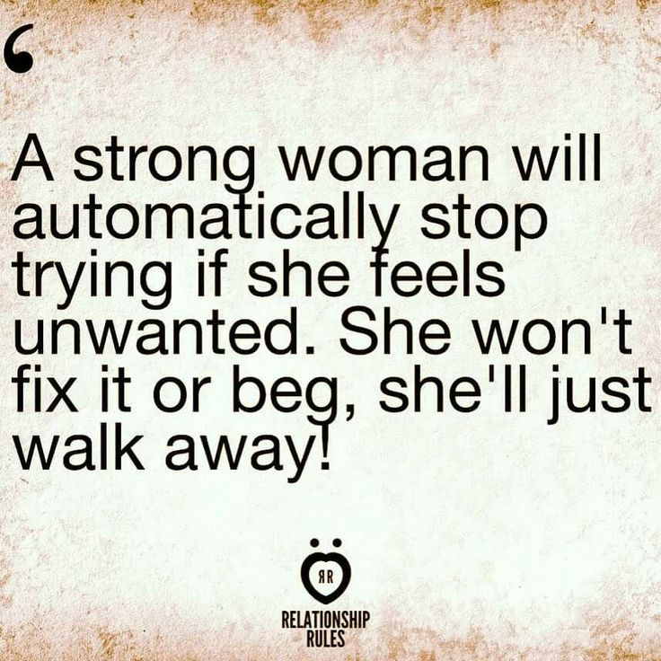 Once Woman Stops Caring