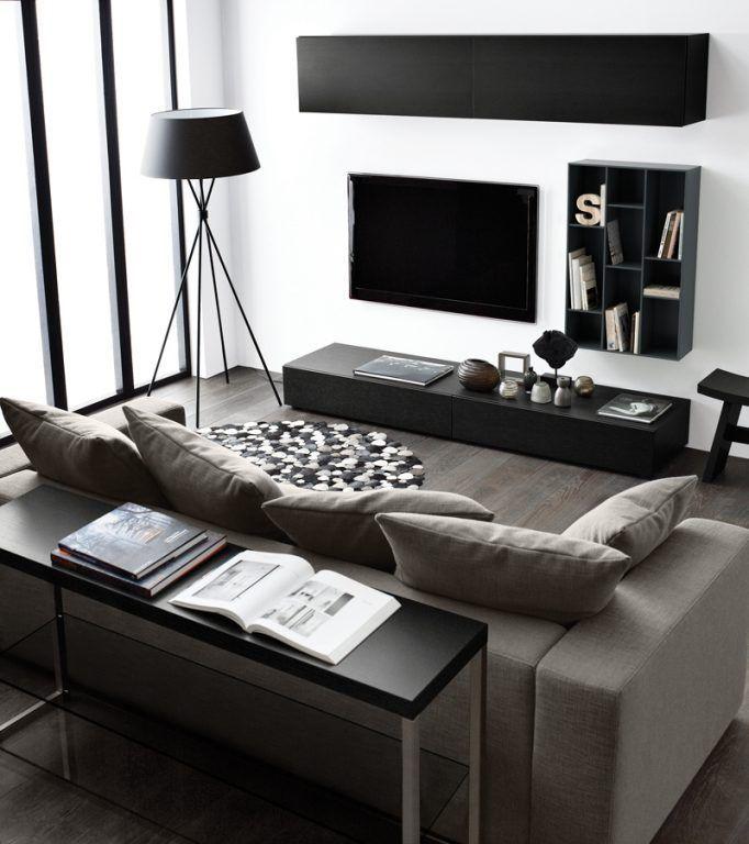 Wohnzimmermöbel * Wohnzimmer * Ideen für Wohnzimmer in schwarz