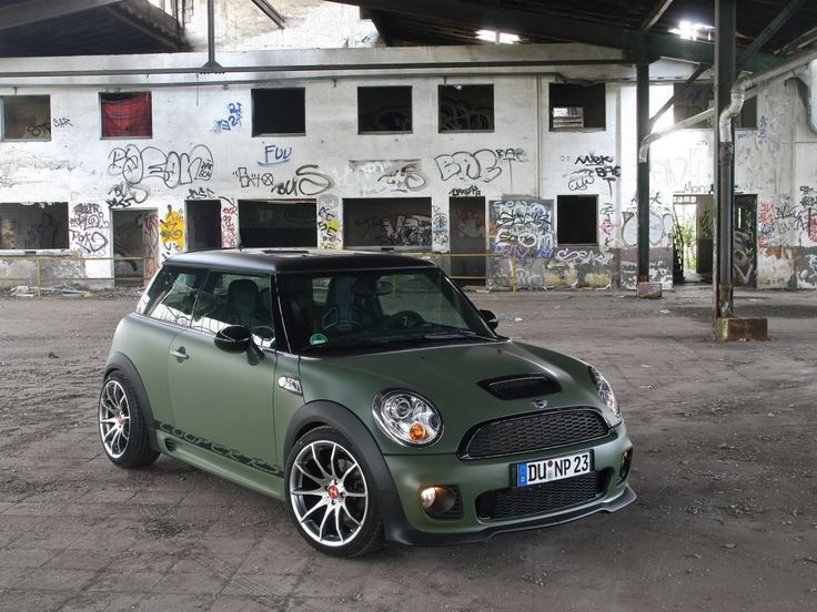 Mini Cooper JCW - Love the matte sage green body, but I hear it's very difficult…