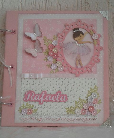 Álbum Scrapbook Bailarina Decorado