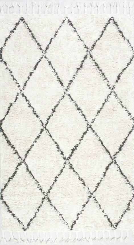 Could look nice in a bedroom...(this site has good deals!) - Marrakesh Shag Natural Rug | Contemporary Rugs #RugsUSA