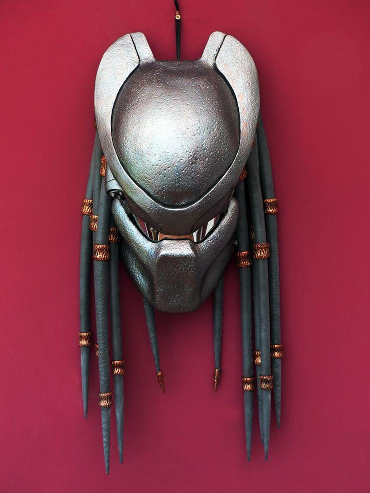 Predator 1 P1 prop replica bio helmet mask dreadlocks beads