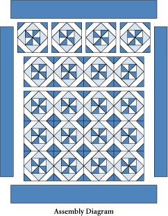 Blue Breeze: FREE Classic Blue and White Quilt Lap Quilt Pattern from McCalls Quilting ~ This great pattern has so many possibilities, traditional two toned or super scrappy or a modern rainbow! The possibilities are endless with thousands of fabrics to choose from at the Fabric Shack at http://www.fabricshack.com/cgi-bin/Store/store.cgi