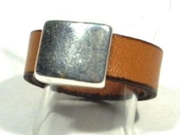 Leather ring for men * anniversary gift for men * mens leather ring * gift for dad * gifts under 10 * camel ring, black ring, brown ring