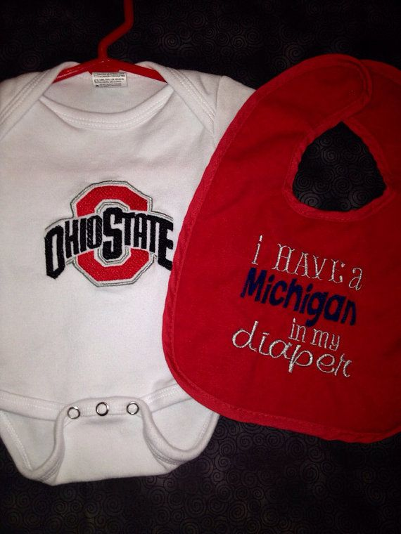 Hey, I found this really awesome Etsy listing at https://www.etsy.com/listing/172367641/ohio-state-baby-gift-set-i-have-a