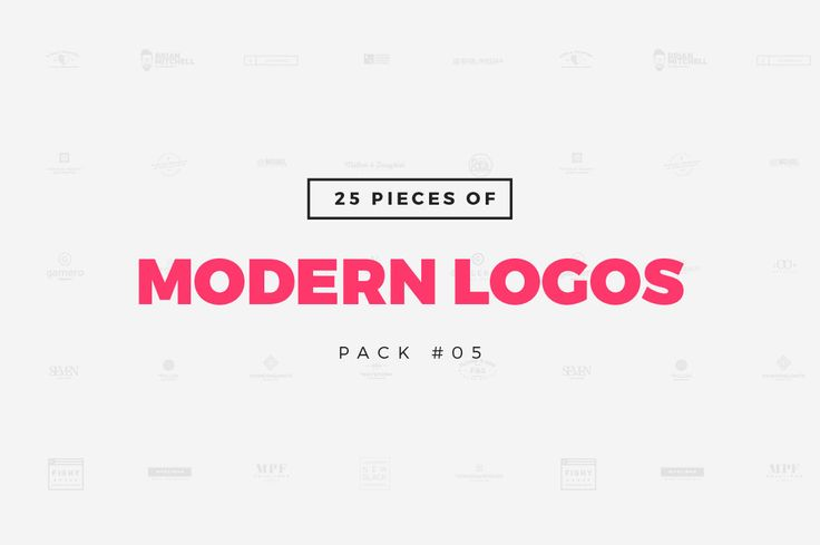 [Pack 05] 25 Modern Logo Templates by Worn Out Media Co. on Creative Market