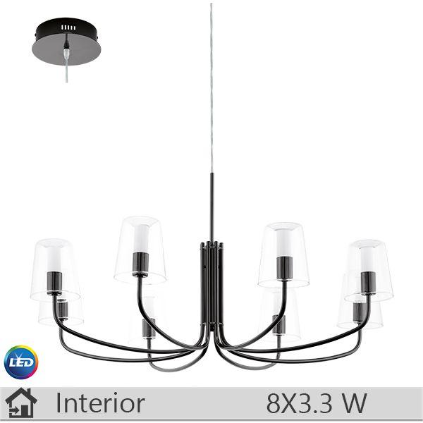 Lustra LED iluminat decorativ interior Eglo, gama Noventa, model  95006