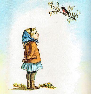 song bird    Almost here…  Art by Tasha Tudor