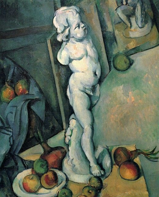 Paul Cezanne :Still Life with Cherub	1895