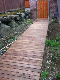 Wooden Walkways on Pinterest | Wood Walkway, Pallet Walkway and ...