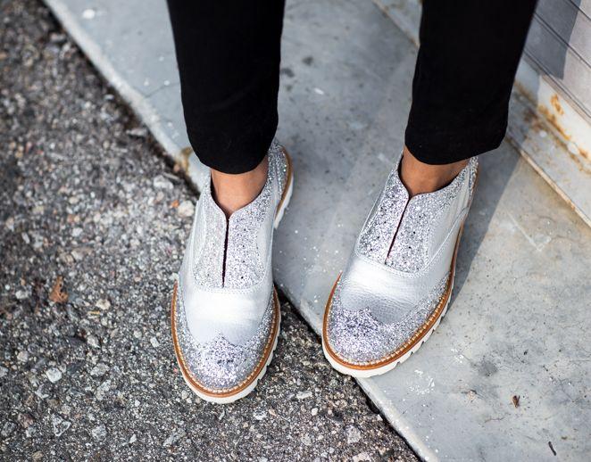 L'F Shoes glitter. Scarpe fatte a mano. Designed by Licia Florio.