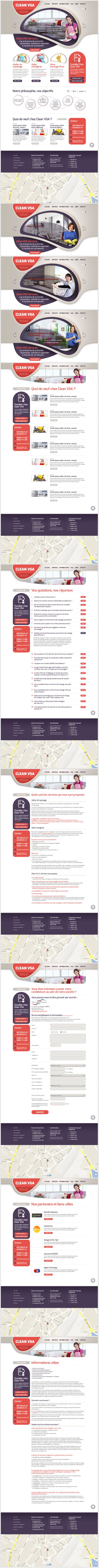 Clean VSA Services website #graphicdesign #webdesign #design #website #layout #newsletter #responsive #foundation #wordpress