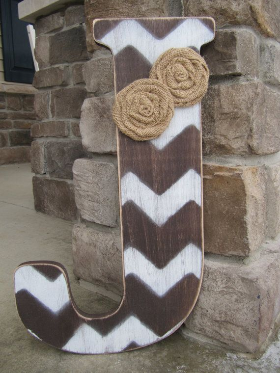 18 inch Chevron letters Bridesmaids gifts by BlessHerHeartDesigns, $34.00