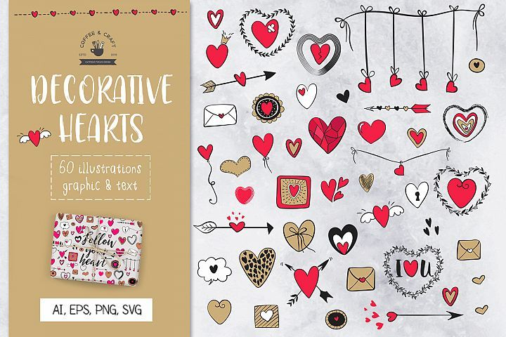 Download Your Purchases Designbundles Net Free Design Elements Heart Font New Year S Crafts