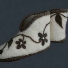 Fiber Trends Natural Comfort Felt Slippers Knitting Pattern