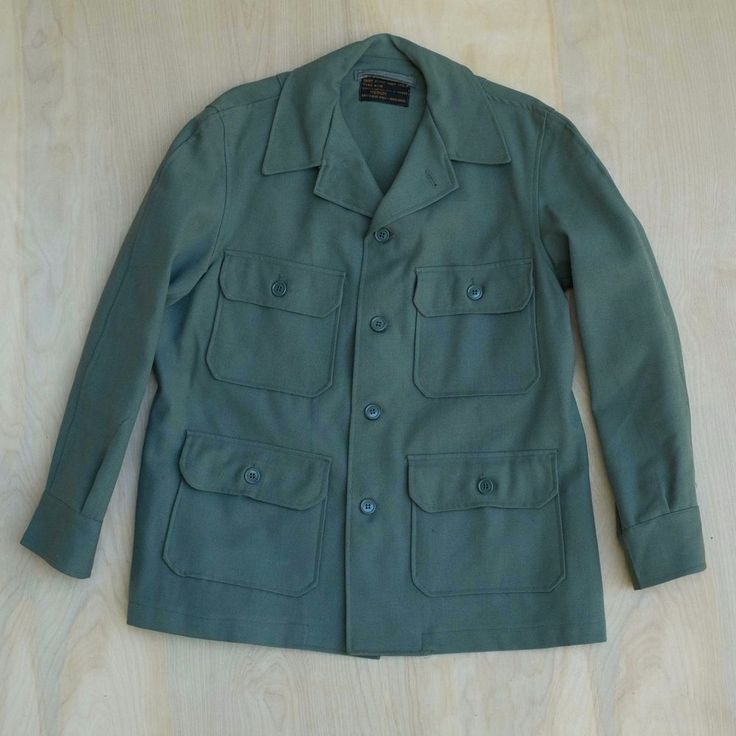 Vtg USAF Air Force Flying Shirt Heavy Vietnam Type A-1B Wool Mil-S-6282B Size M