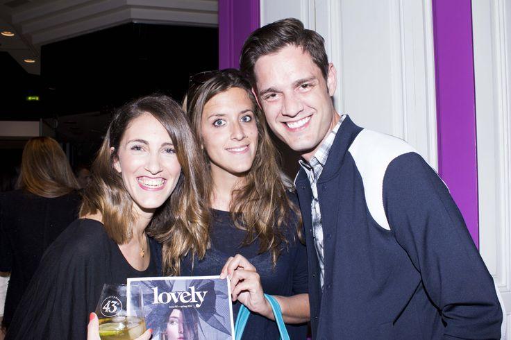 Elisa Palma, de StyleLovely con Amada Bernat y Álvaro Rincón, de InHouse Comunicación.