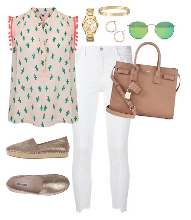 """""""Outfit 368"""" by caa123 ❤ liked on Polyvore featuring J Brand, Mercy Delta, Steve Madden, Cartier, Ray-Ban, Michael Kors, Nordstrom and Yves Saint Laurent"""