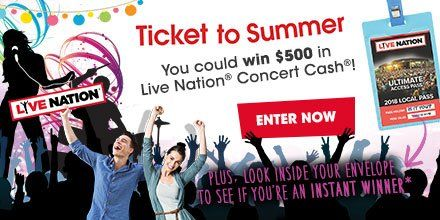 Do you love to attend concerts of your favorite artists? Enter Concerts Near Me 2017 giveaway to win concert cash and access to all Live Nation concerts.