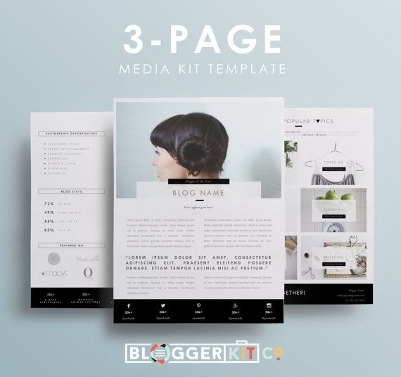 media kit template for bloggers   influencers