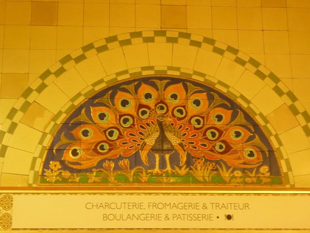 From the website PEACOCK'S GARDEN || Art Nouveau interior of Harrods Food Halls, Brompton Road, London