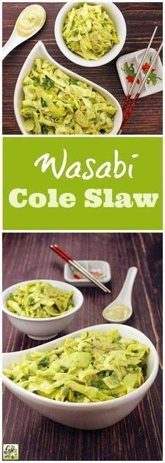 Tired of basic coles Tired of basic coleslaw recipes? Try this Wasabi Cole Slaw recipe! Click to get this Asian coleslaw recipe thats ideal for cookouts potlucks and bbq parties. Its gluten free and comes with a vegan option. Youll love how this easy coleslaw recipe with avocado and wasabi mayo for summer! Recipe : http://ift.tt/1hGiZgA And @ItsNutella  http://ift.tt/2v8iUYW  Tired of basic coles Tired of basic coleslaw recipes? Try this...
