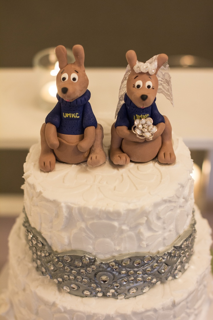 Our wedding cake toppers umkc kangaroos where we met