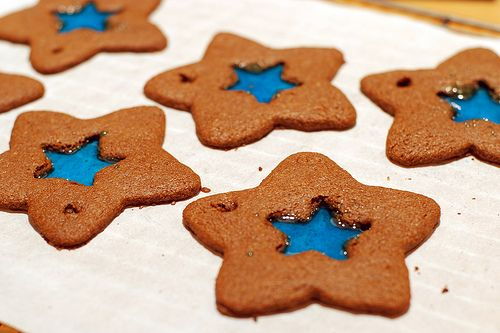 Stained glass gingerbread cookies