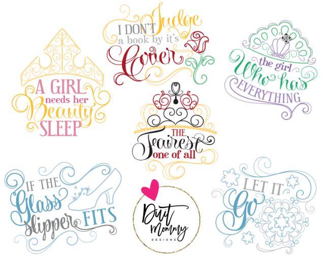 $20 Disney Princess Embroidered Shirt or Onesie Belle Ariel Cinderella Elsa Aurora Snow White Quotes