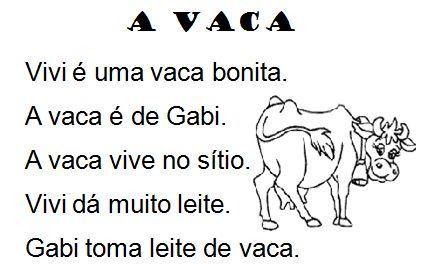Texto A vaca, de Elisângela Terra