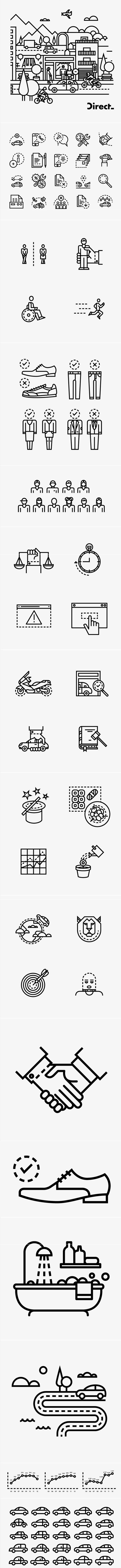 Direct Seguros #Icons #pictograms