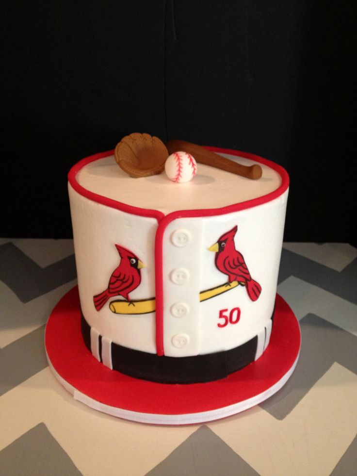 Stl Cardinals Cake Made By Teresa Lynn Cakes Llc