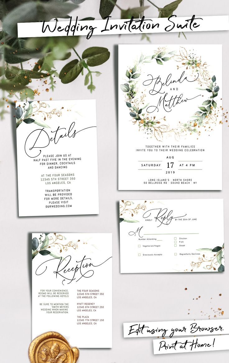 Cleo Wedding Invitation Template Boho Wedding Invite Template Wedding Invitation Invitation Template Download Faux Gold Invite In 2020 Bohemian Wedding Invitations Wedding Invitations Boho Diy Wedding Invitations Templates