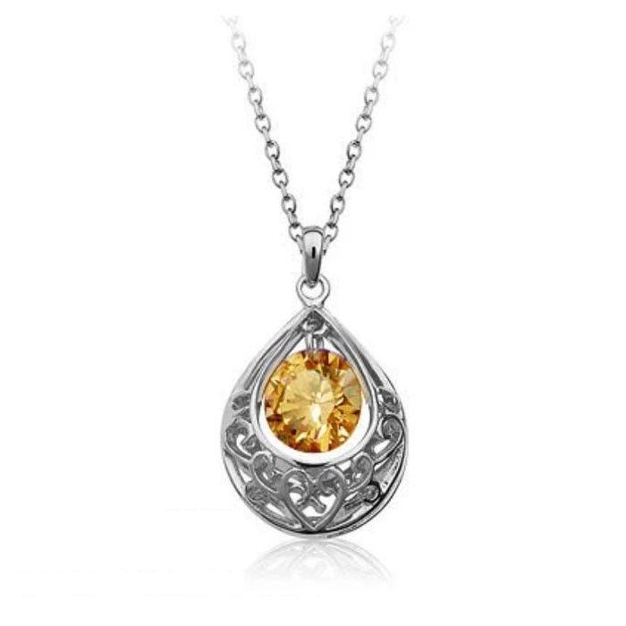 Temukan dan dapatkan Kalung Swarovski Crystal Elements Yellow Campagne hanya Rp 220.000 di Shopee…