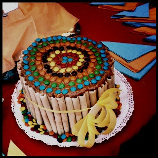 Torta infantil de cuchuflis y chubis
