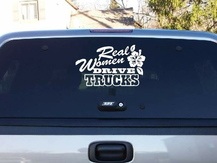Decals by us real women drive trucks decal 7 00 http