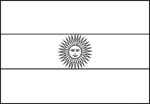 Argentina Flag Coloring Page For