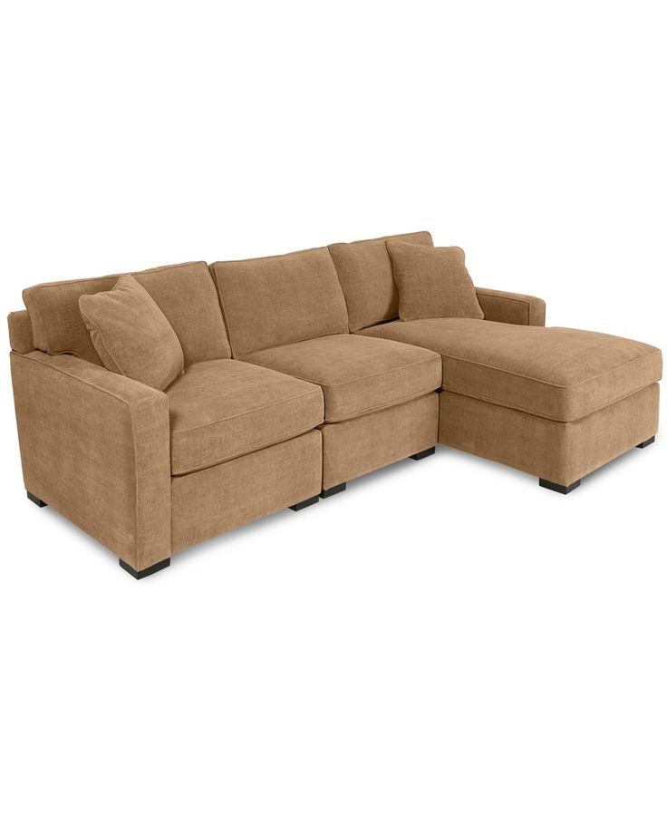Radley 3 piece fabric chaise sectional sofa custom colors for Radley 5 piece fabric sectional sofa
