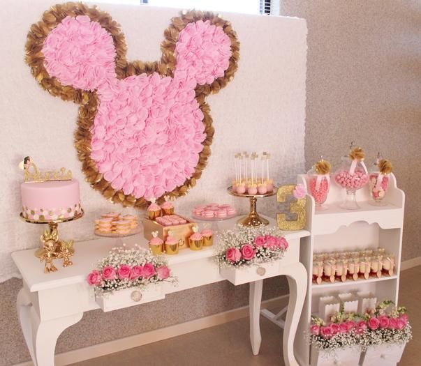 Hostess with the Mostess® - Pink and Gold Minnie Table