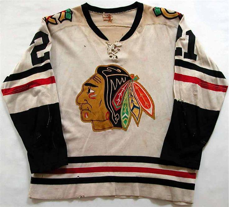 1960-61 Stan Mikita Chicago Black Hawks Stanley Cup Finals Game Worn Jersey. Love the Original Six!