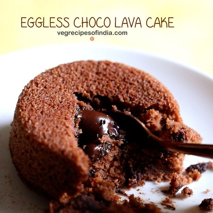 Eggless Choco Lava Cake Recipe - Easy and yum recipe of molten lava cake made with Whole Wheat Flour, Cocoa powder and Chocolate.