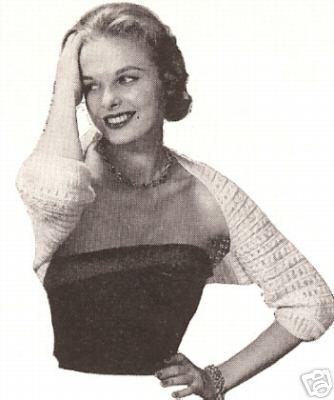 Vintage Crochet Shrug Wrap Sweater Jacket Pattern 50s